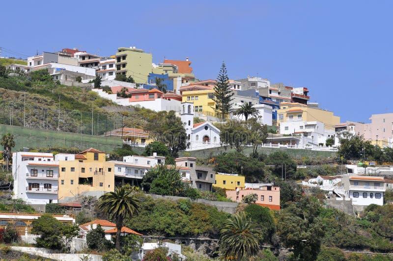 De hoogten van Icod de los Vinos in Tenerife stock foto's