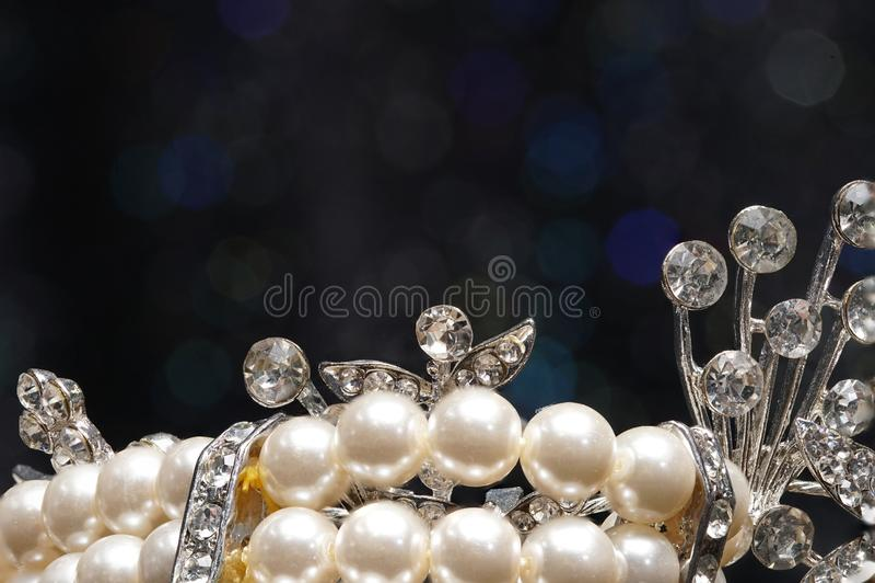 De hoogwaardige toebehoren van de Gemmensteen, Goud, Diamant, Robijn, Parel, B stock fotografie