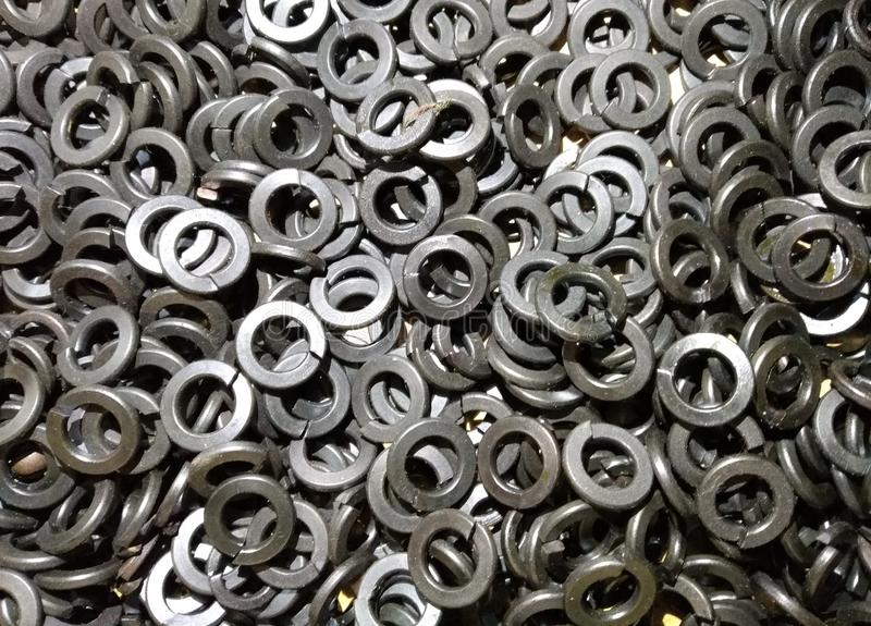 De hoop van productiewasmachines stock afbeelding