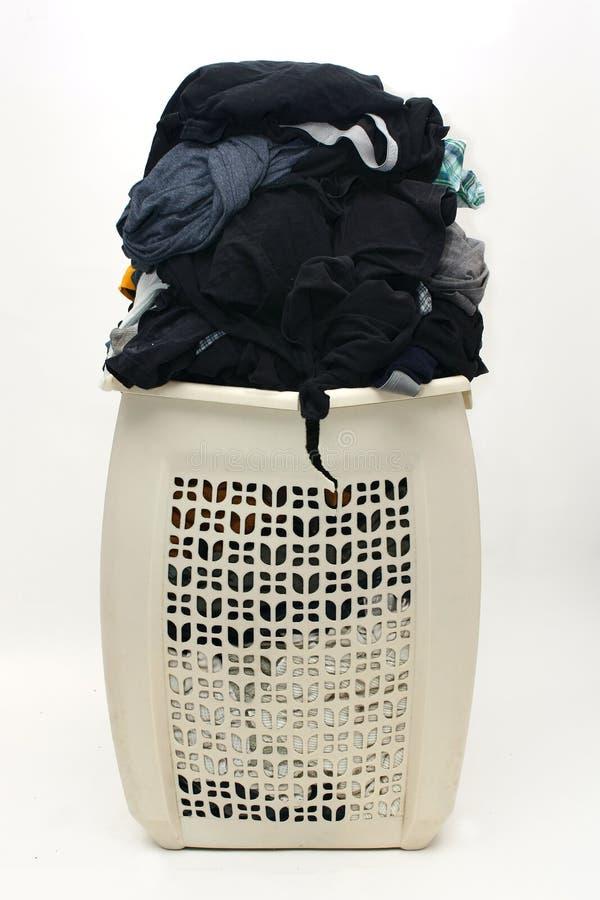 De hoop van vuile kleren in busted belemmert royalty-vrije stock afbeelding