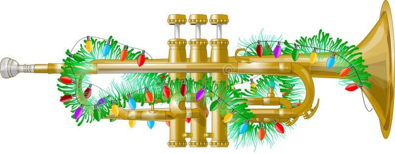 De Hoorn van Kerstmis stock illustratie