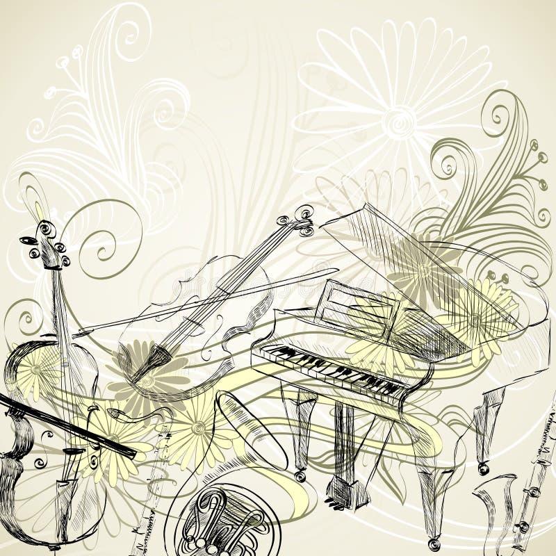 De hoornreeks 3 van de muziek stock illustratie