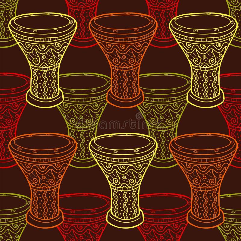 De hoornreeks 3 van de muziek Arabische trommels percussie vector illustratie