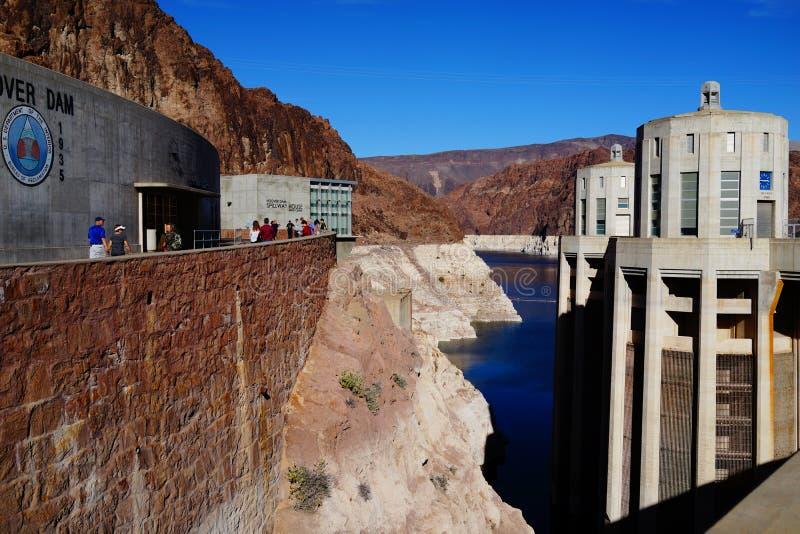 De Hoover-Dam b44 stock afbeeldingen