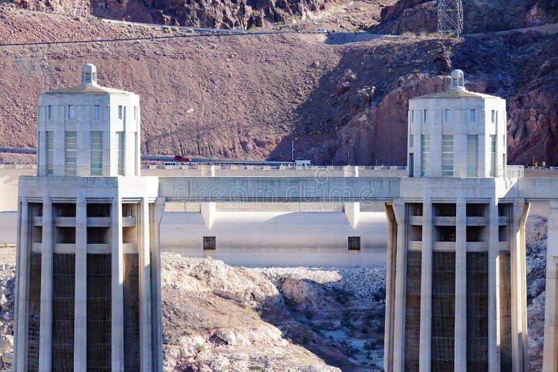 De Hoover-Dam d44 royalty-vrije stock fotografie