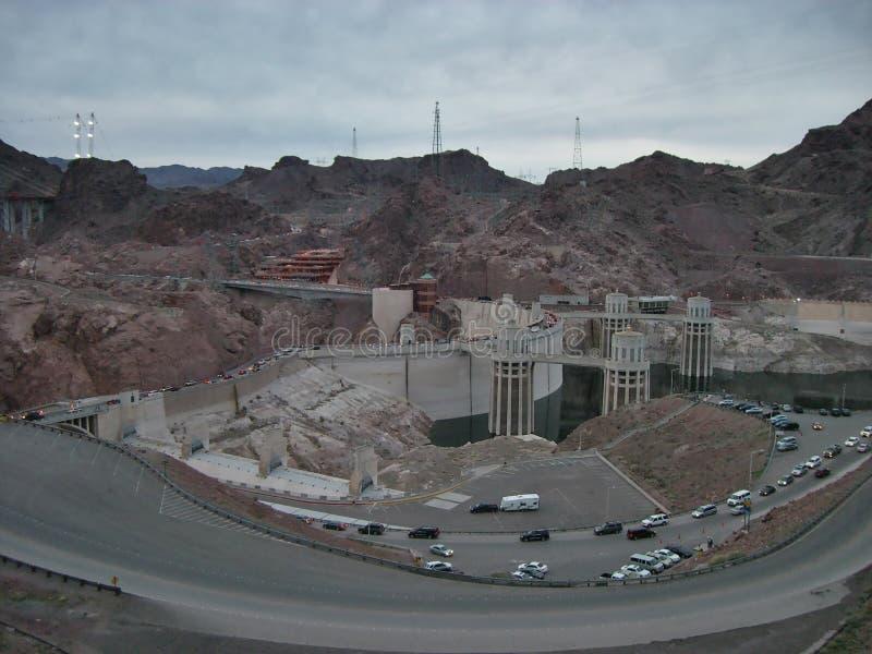 De Hoover-Dam royalty-vrije stock afbeeldingen