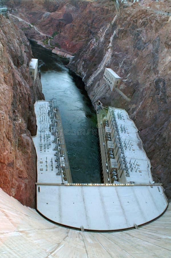 De Hooverdam is concrete een boog-ernst dam in de Zwarte Canion van de Rivier van Colorado royalty-vrije stock afbeelding