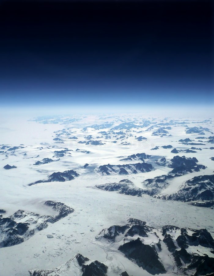 De Horizon & de Ruimte van de Gletsjers van de aarde royalty-vrije stock foto