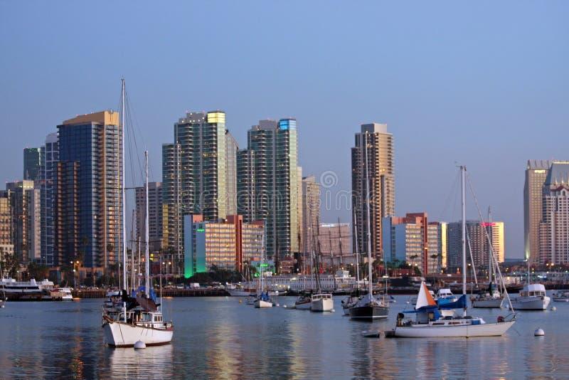 De horizon en de haven van San Diego royalty-vrije stock foto's