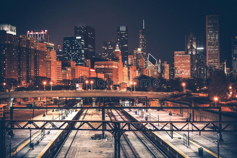 De Horizon en de Spoorweg van Chicago royalty-vrije stock afbeelding
