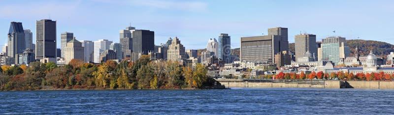 De horizon en Heilige Lawrence River in de herfst, Quebec van Montreal royalty-vrije stock foto