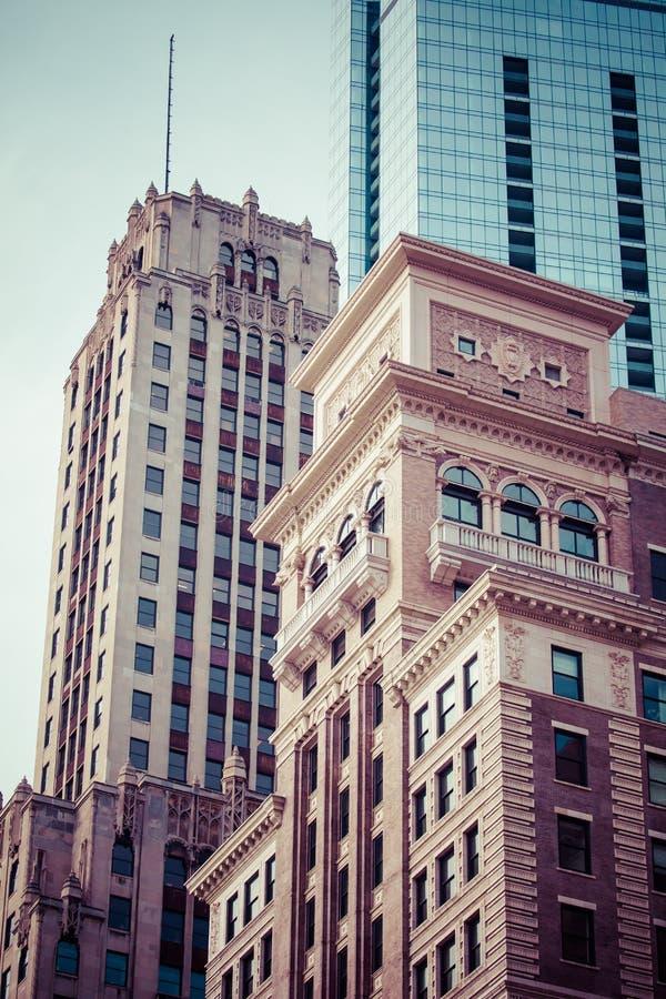 De horizon luchtmening van Chicago royalty-vrije stock afbeelding