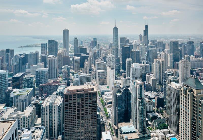 De horizon luchtmening van Chicago royalty-vrije stock foto