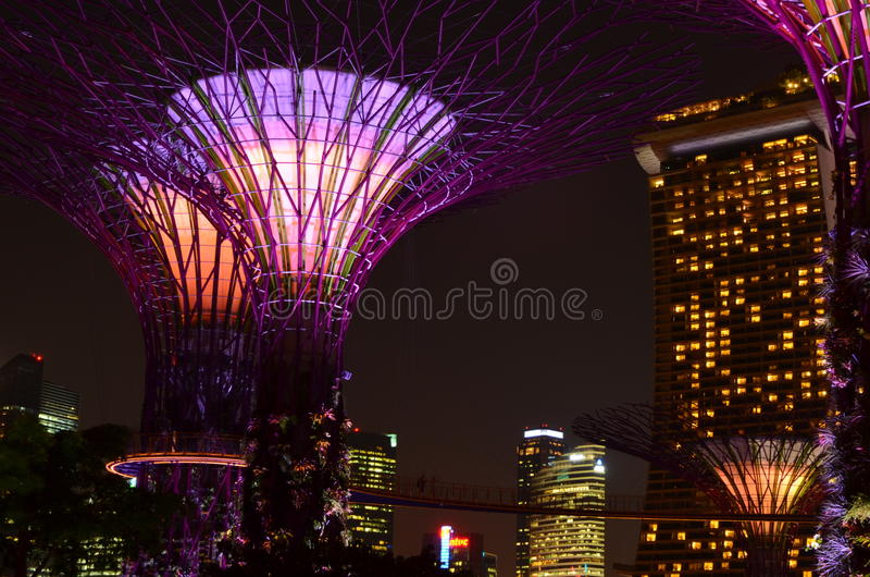 De Horizon Marina Bay van Singapore stock foto