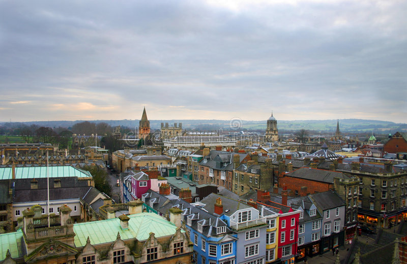 De Horizon Oxford Engeland van de stad stock foto