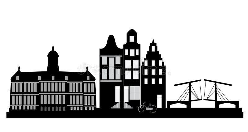 De Horizon van Amsterdam royalty-vrije illustratie