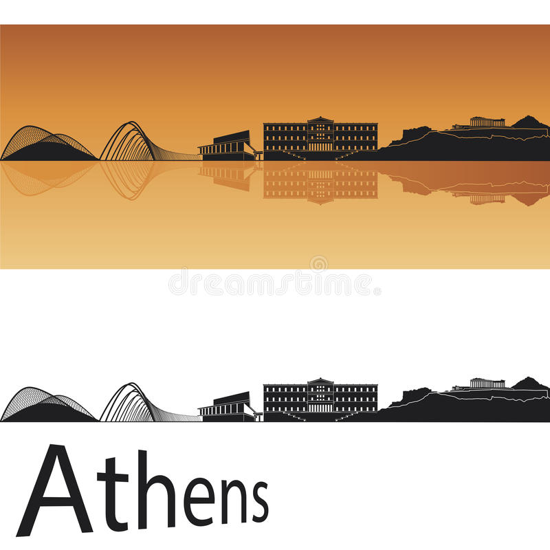 De horizon van Athene vector illustratie