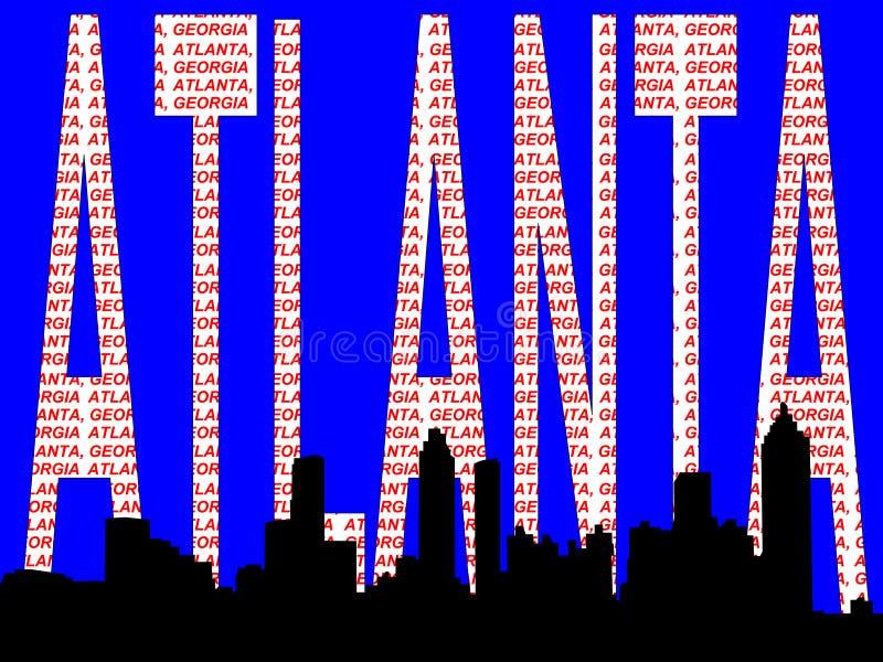 De horizon van Atlanta vector illustratie