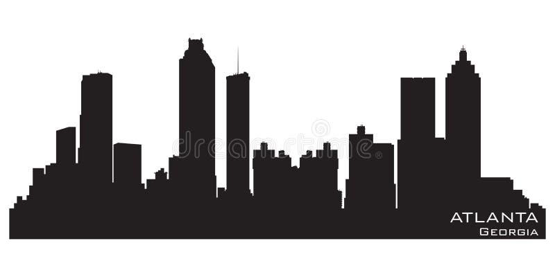 De Horizon van Atlanta, Georgië Gedetailleerd vectorsilhouet stock illustratie