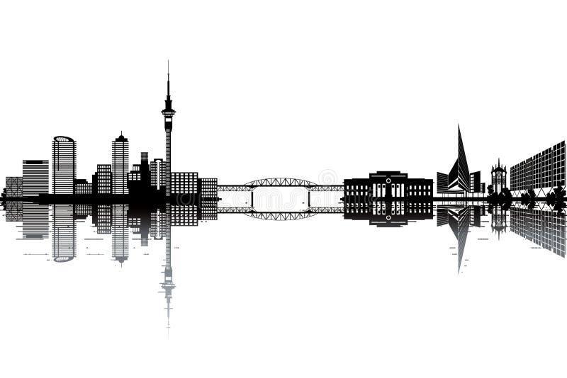 De horizon van Auckland royalty-vrije illustratie
