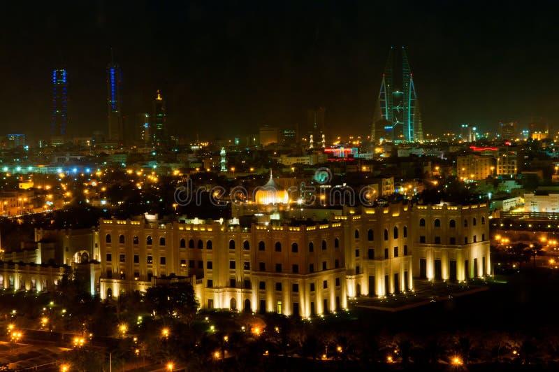 De Horizon van Bahrein bij Nacht royalty-vrije stock foto's