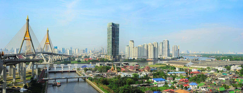 De horizon van Bangkok stock foto