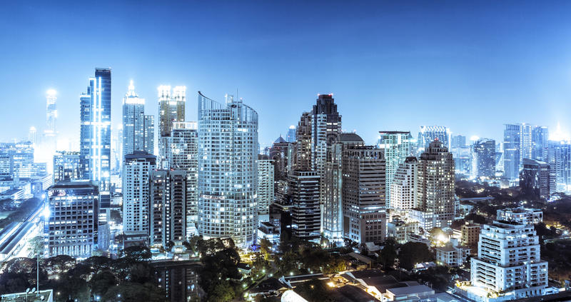 De horizon van Bangkok royalty-vrije stock afbeelding