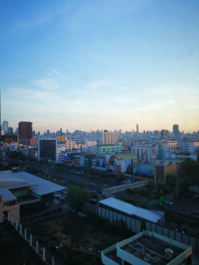 De horizon van Bangkok in Thailand royalty-vrije stock fotografie