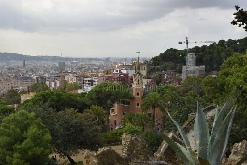 De horizon van Barcelona stock foto