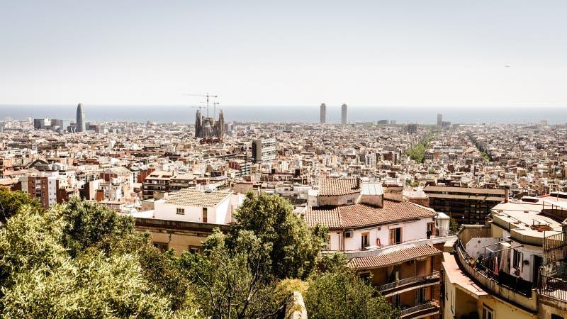 De horizon van Barcelona royalty-vrije stock fotografie