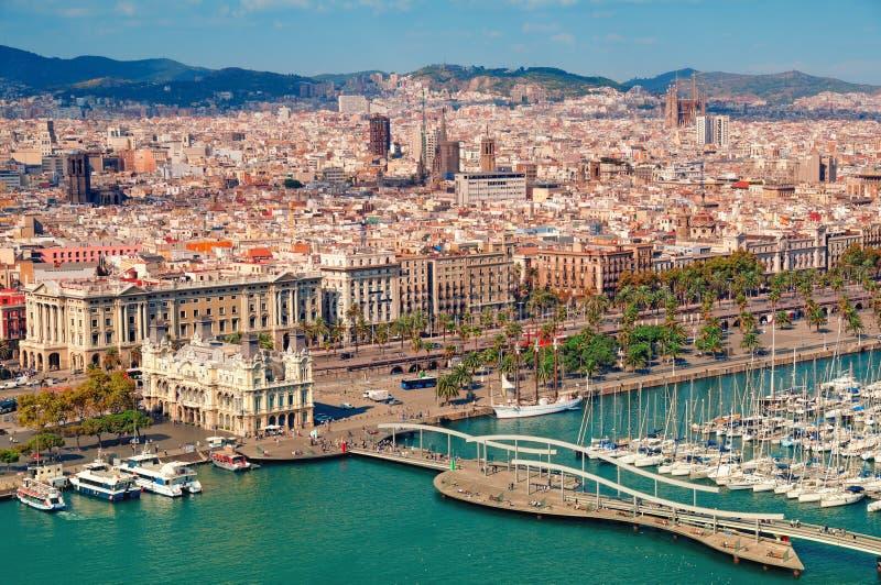 De horizon van Barcelona stock fotografie