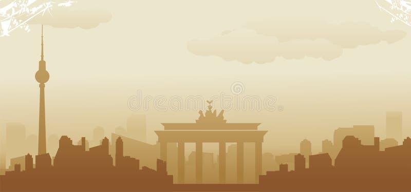 De horizon van Berlijn vector illustratie