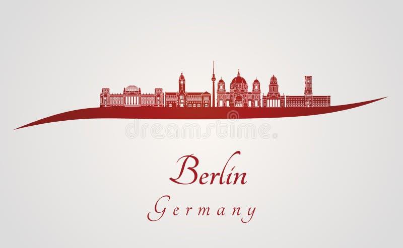 De horizon van Berlijn V2 in rood royalty-vrije illustratie