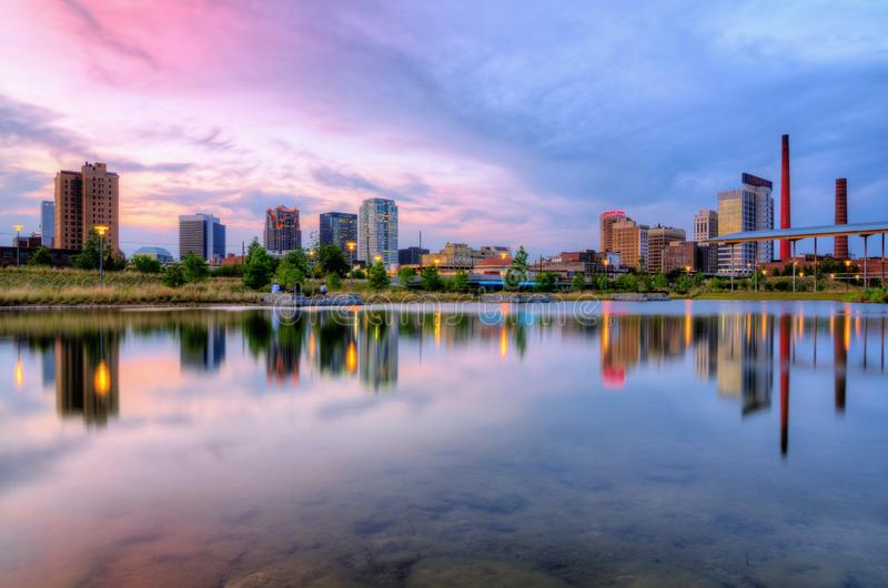De Horizon van Birmingham, Alabama stock fotografie
