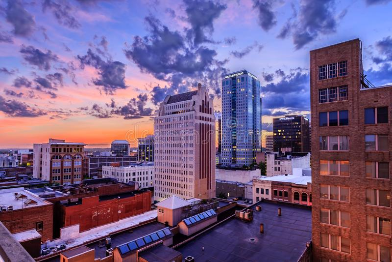 De Horizon van Birmingham Alabama stock foto