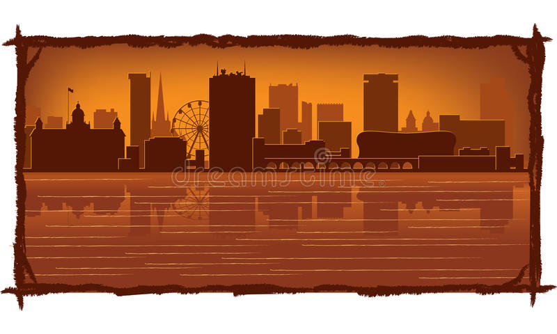 De horizon van Birmingham Engeland stock illustratie