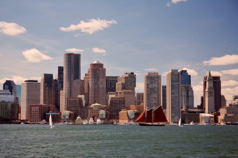 De horizon van Boston royalty-vrije stock fotografie