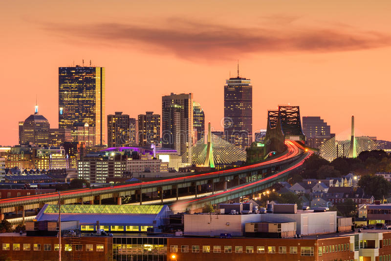 De Horizon van Boston, Massachusetts royalty-vrije stock foto