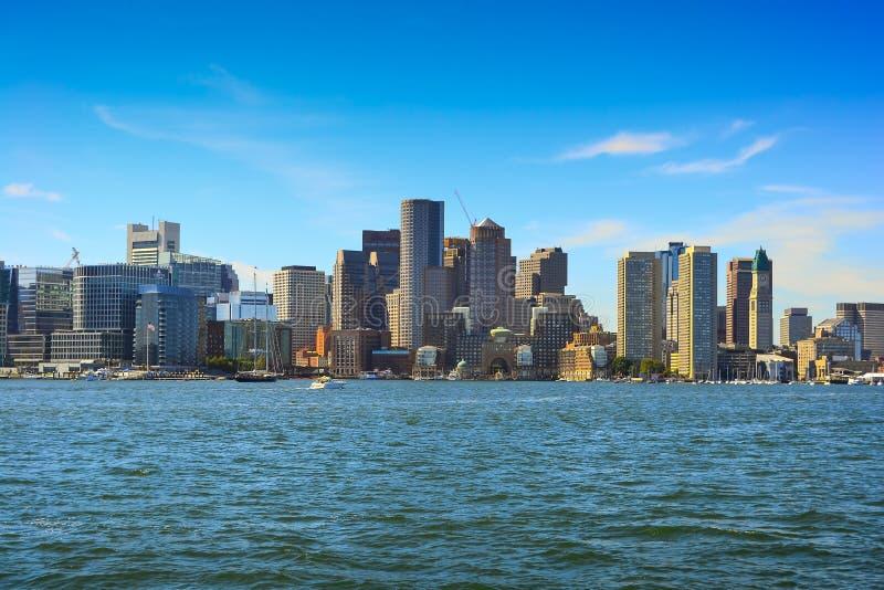 De horizon van Boston, Massachusetts, de V royalty-vrije stock fotografie