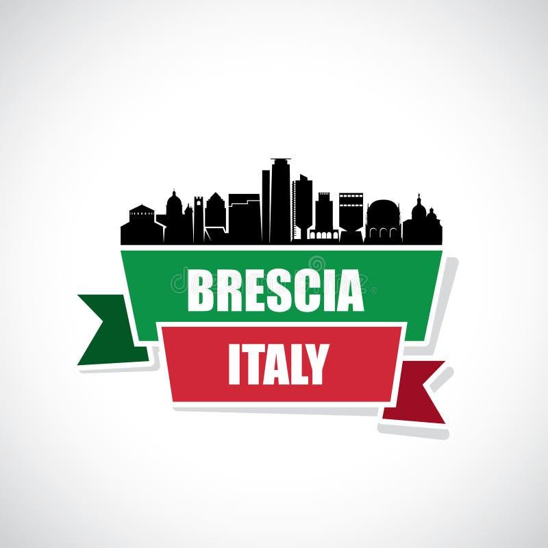 De horizon van Brescia - Italië - vectorillustratie vector illustratie