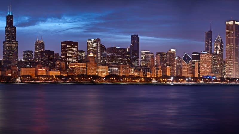 De horizon van Chicago. stock foto's