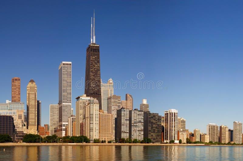 De horizon van Chicago royalty-vrije stock fotografie