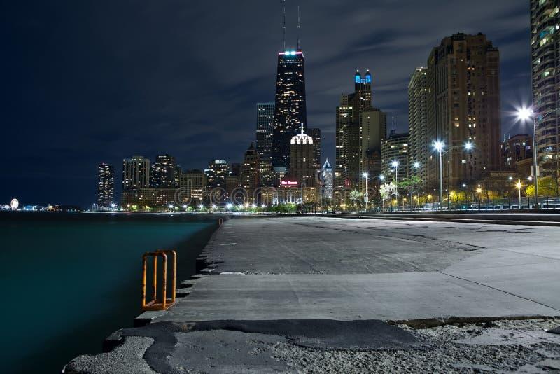 De horizon van Chicago. stock foto