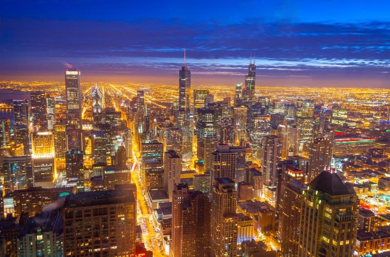 De Horizon van Chicago stock foto's