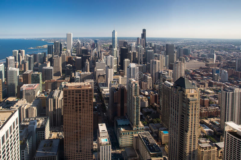De Horizon van Chicago stock fotografie