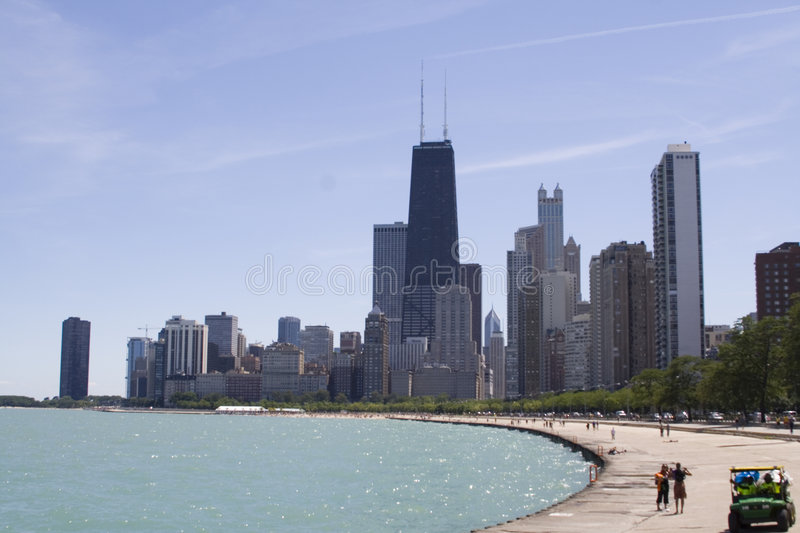 DE HORIZON VAN CHICAGO stock foto
