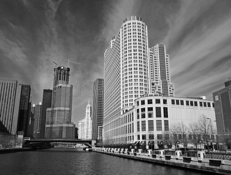 De horizon van Chicago royalty-vrije stock foto