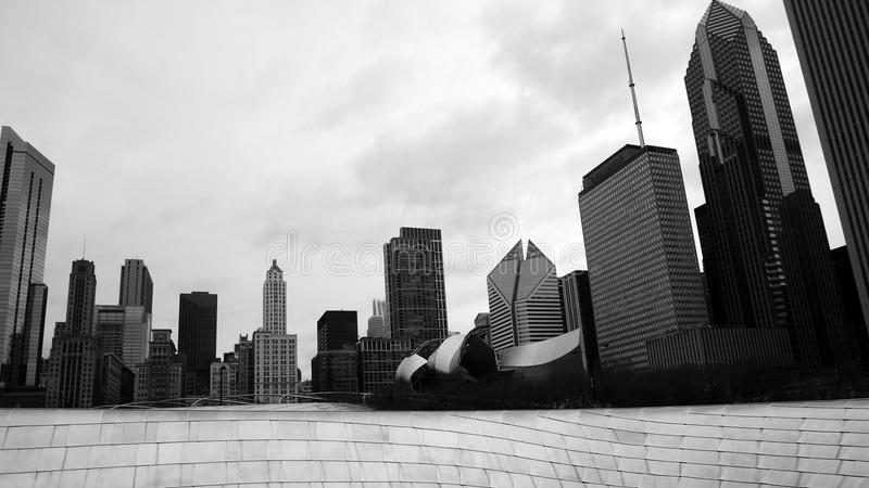 De horizon van Chicago, de V.S. stock fotografie