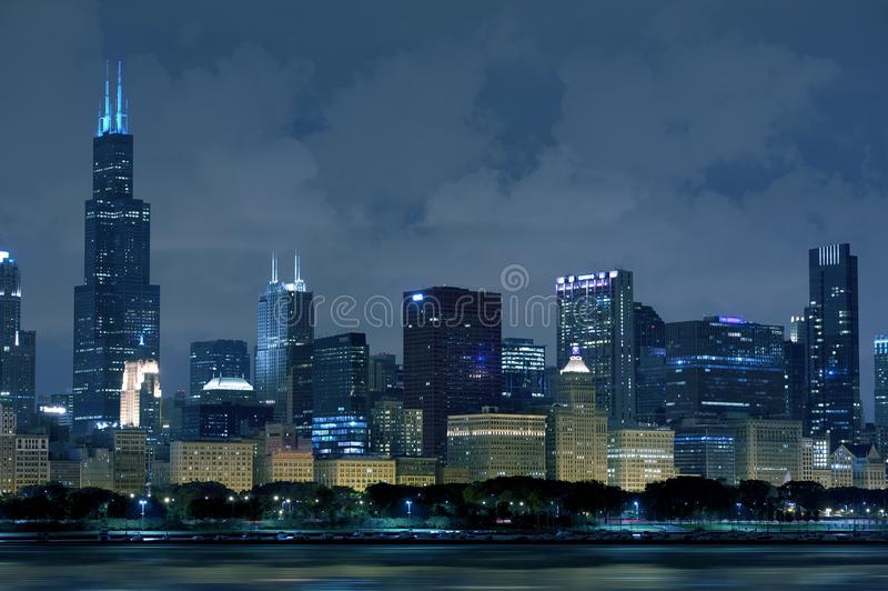 De Horizon van Chicago Illinois stock foto's