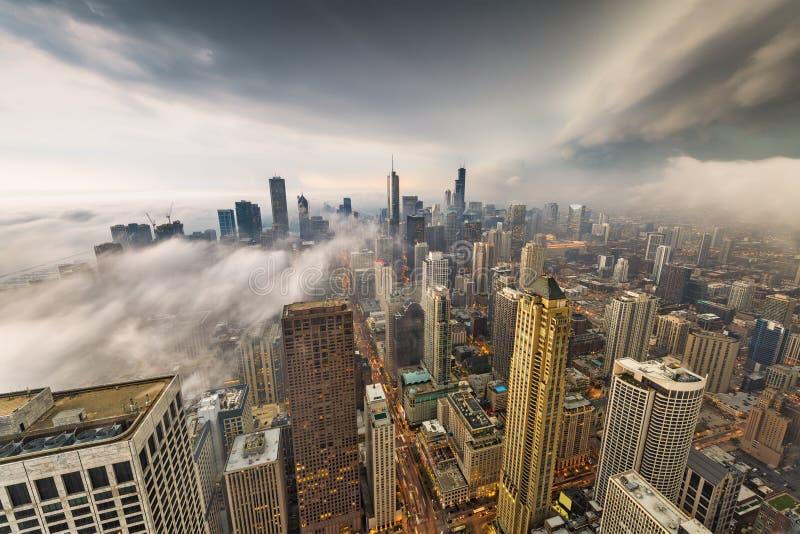De Horizon van Chicago, Illinois, de V.S. royalty-vrije stock fotografie